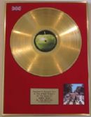 THE BEATLES - LP 24 Carat Gold Disc -  ABBEY ROAD